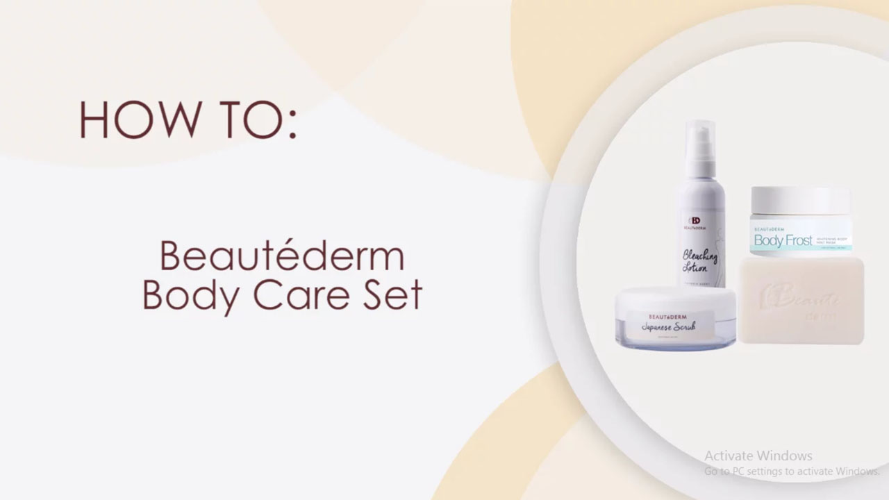 Beautederm Body Care Set